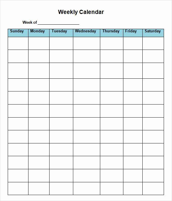 2 Week Calendar Template Word Inspirational 38 Two Week Calendar Template Word Weekly Calendar 2015