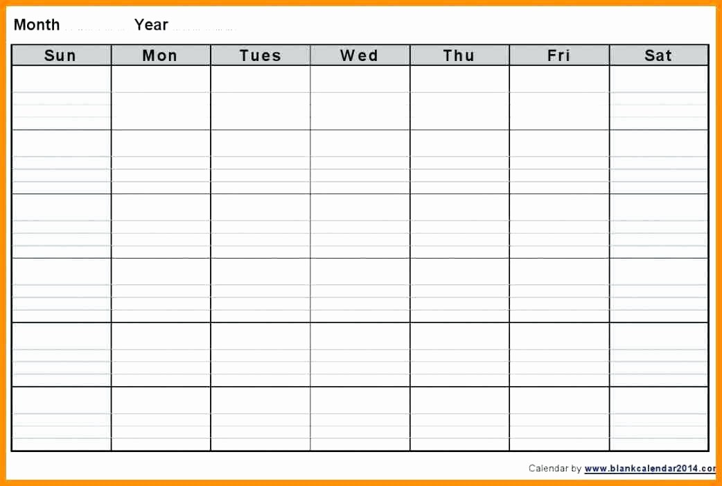 blank day calendar print out week by template excel printable