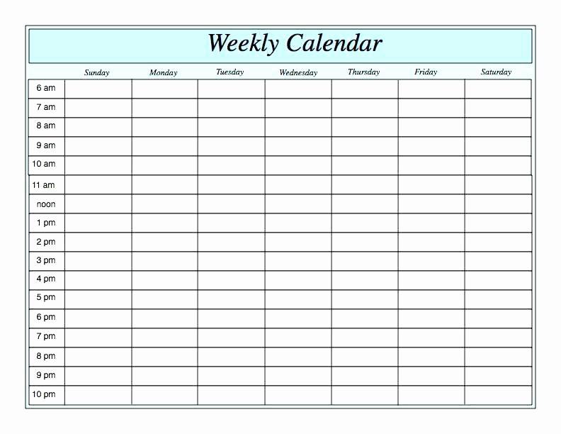 2 Week Calendar Template Word Unique 10 2 Week Calendar Template Word