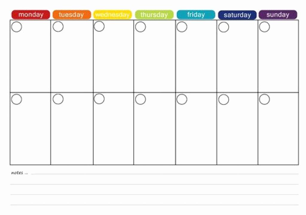2 Week Calendar Template Word Unique Printable 2 Week Calendar Two Week Calendar Template