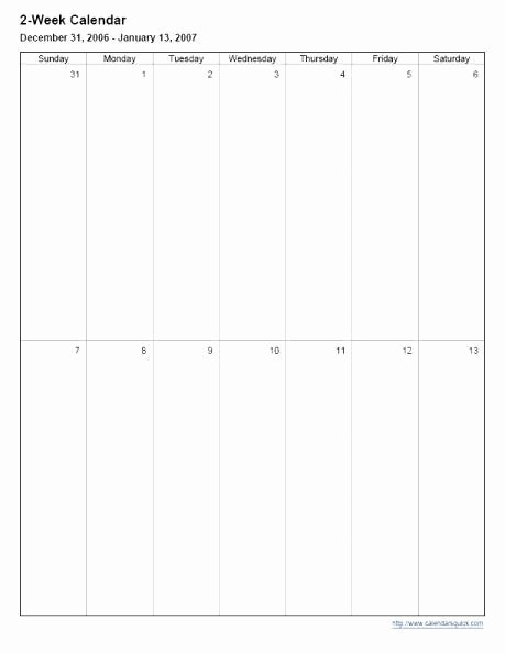 2 Week Calendar Template Word Unique Two Week Calendar Template Word