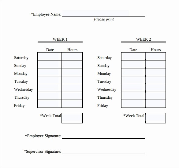 2 Week Time Card Template Best Of 31 Simple Timesheet Templates Doc Pdf