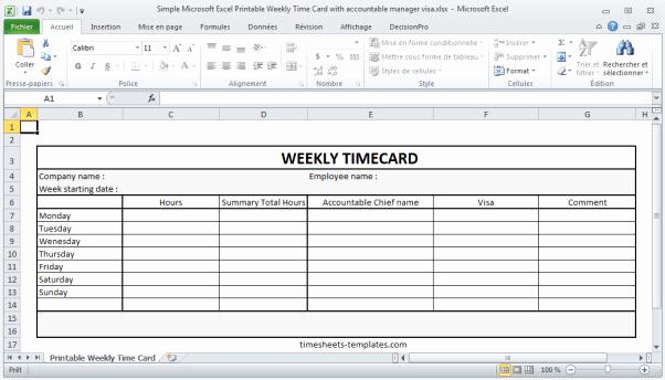 2 Week Time Card Template Luxury 9 Free Printable Time Cards Templates Excel Templates