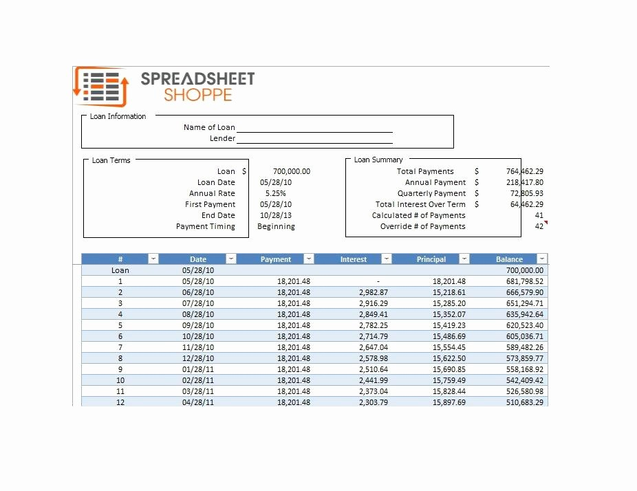 20 Year Amortization Schedule Excel Awesome 28 Tables to Calculate Loan Amortization Schedule Excel