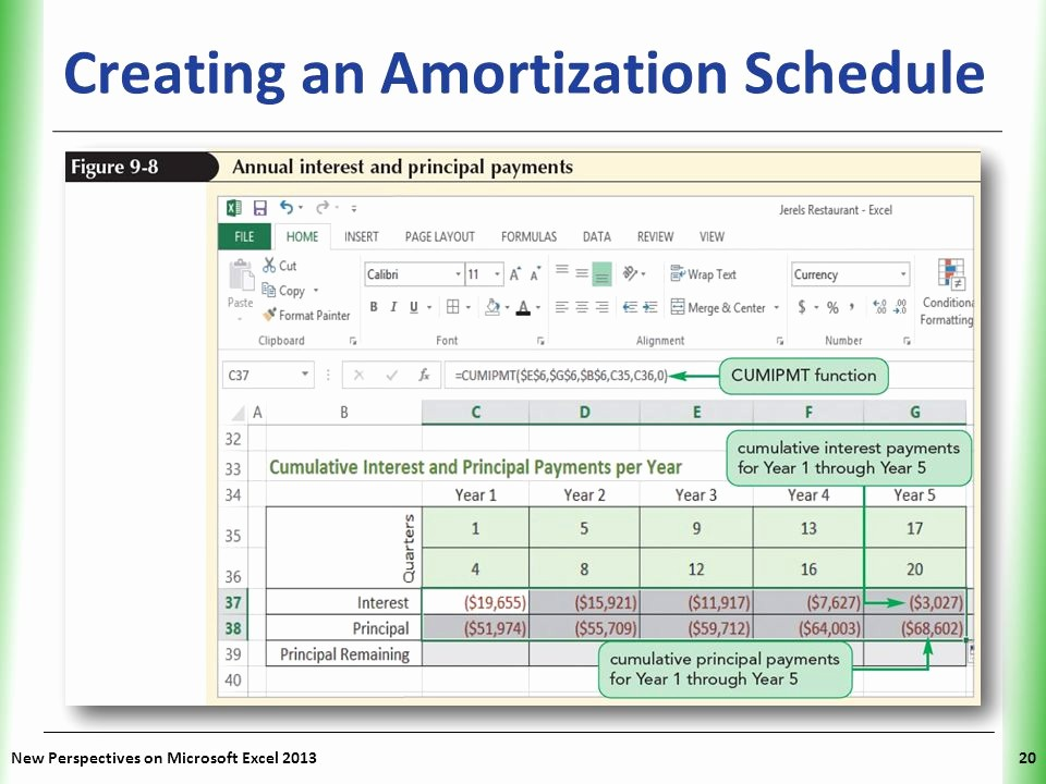 20 Year Amortization Schedule Excel Awesome Tutorial 9 Exploring Financial tools and Functions Ppt
