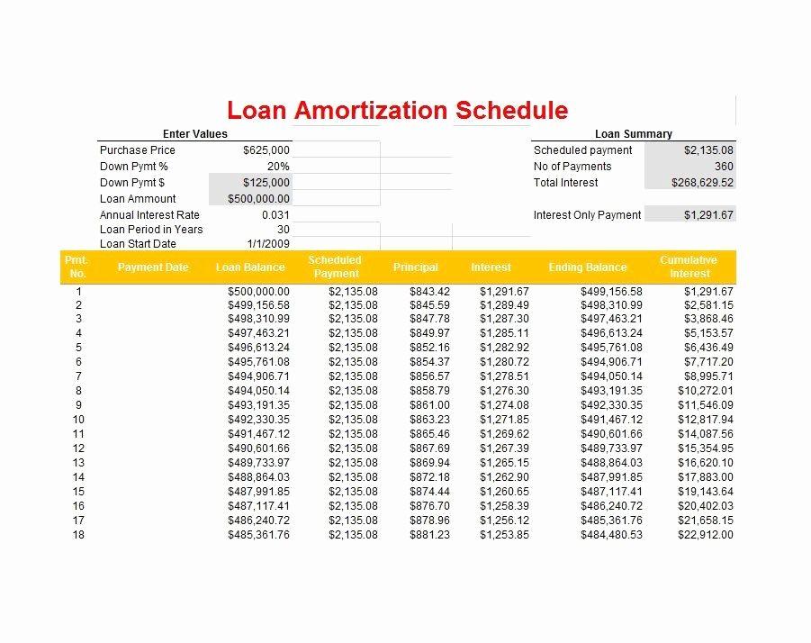 20 Year Amortization Schedule Excel Best Of 28 Tables to Calculate Loan Amortization Schedule Excel