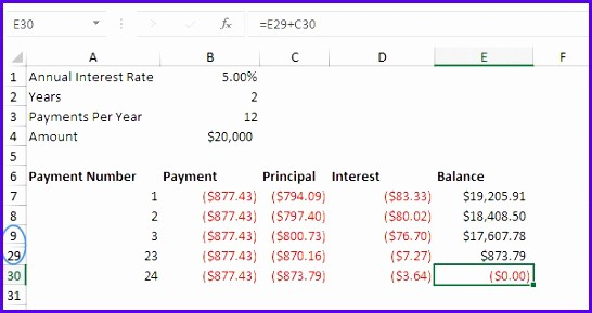 20 Year Amortization Schedule Excel Inspirational 5 Year Loan Amortization Table