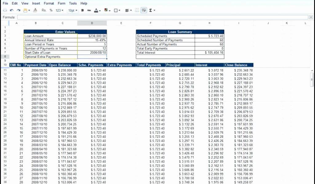 20 Year Amortization Schedule Excel Unique Amortization Schedule Calculator