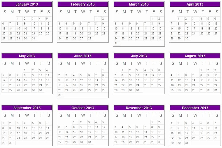 2013 Calendar Printable One Page Awesome 2013 Calendar 001a3