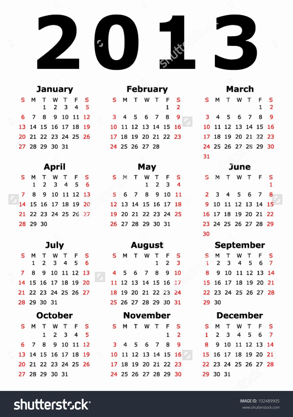 2013 Calendar Printable One Page Best Of 2013 Calendar – 2017 Printable Calendar