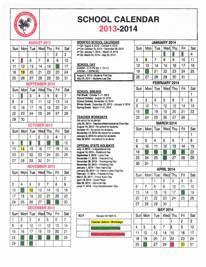 2013 Calendar Printable One Page Best Of Doe Calendar 2013 Hawaii