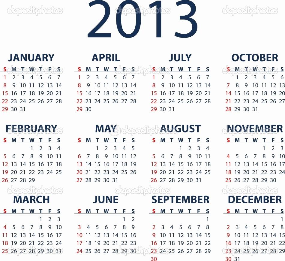 2013 Calendar Printable One Page Inspirational 2013 Calendar – 2017 Printable Calendar