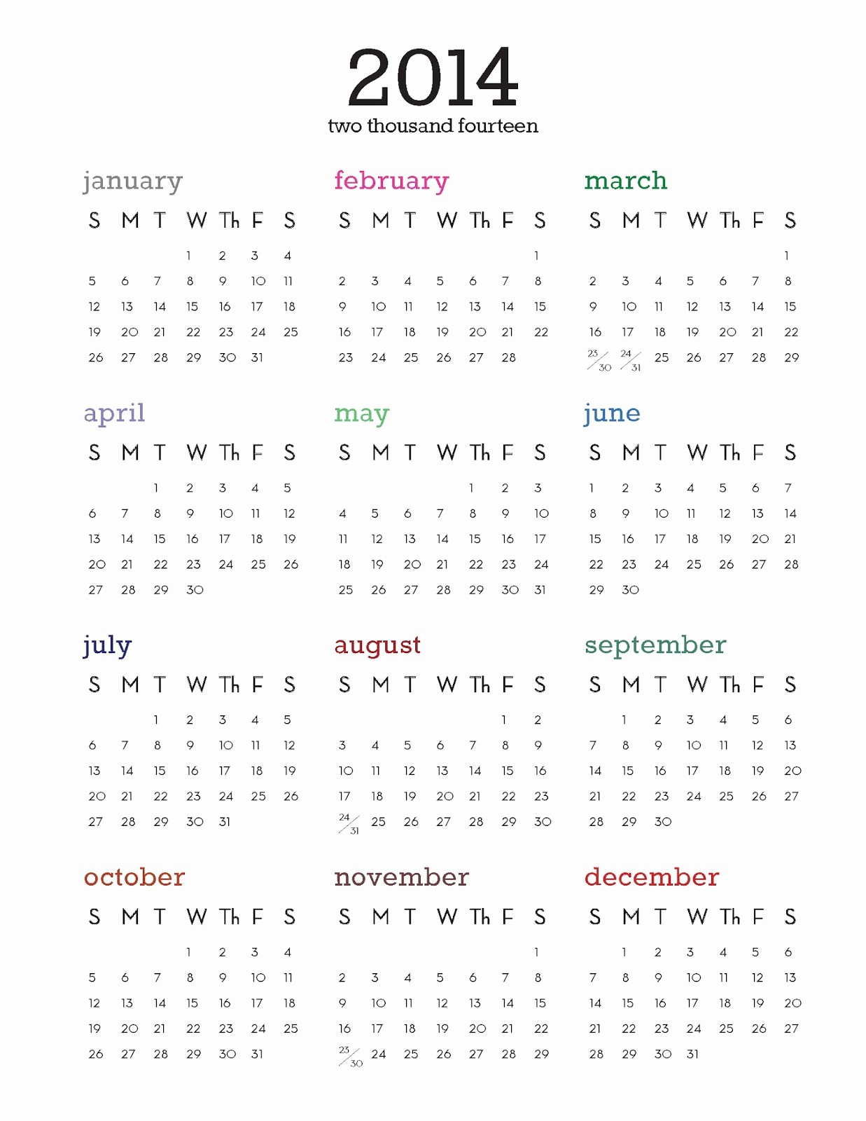 best photos of 2014 calendar printable one page year outstanding 2013 yearly calendars