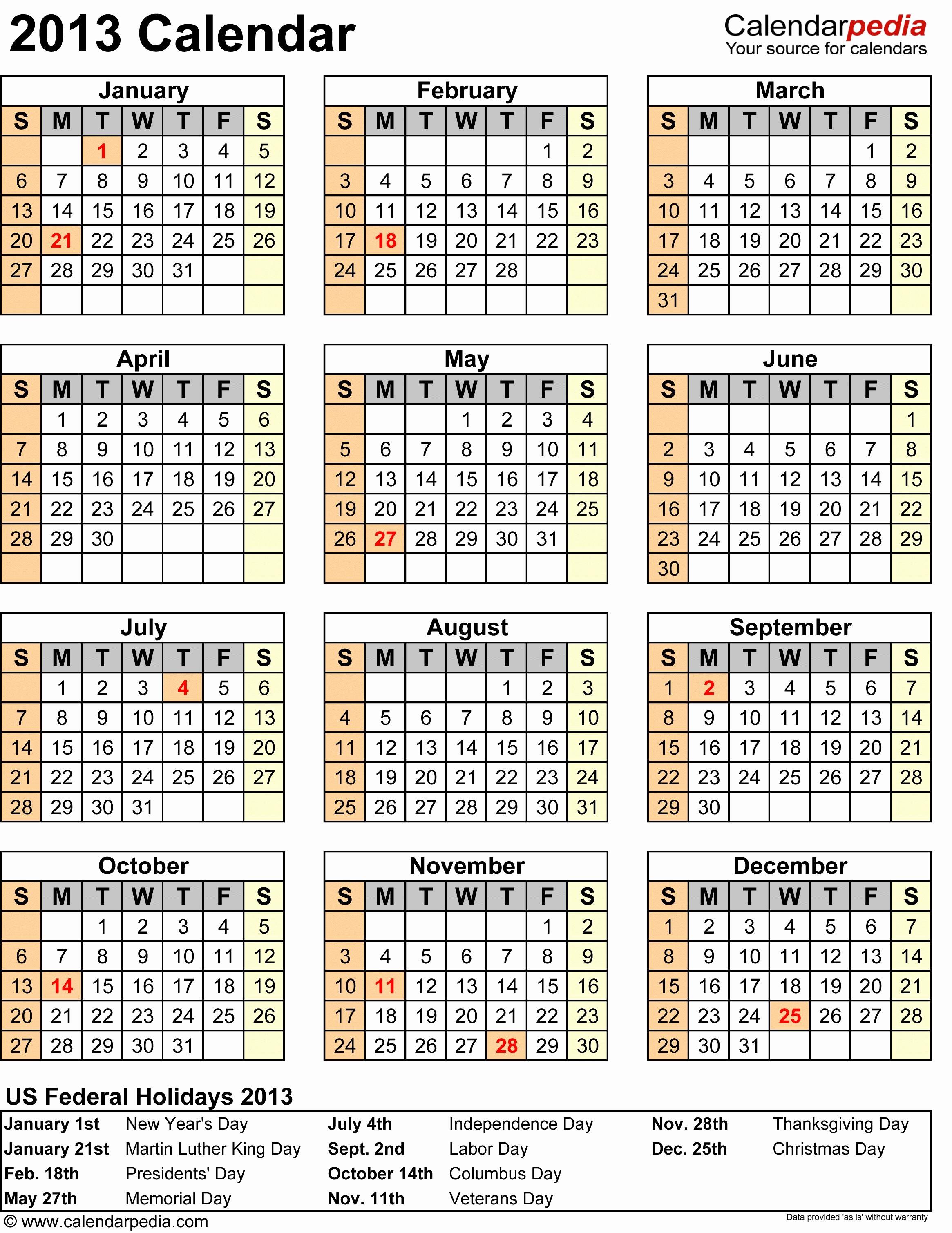 2013 Calendar Printable One Page Luxury 2013 14 Calendar Uk