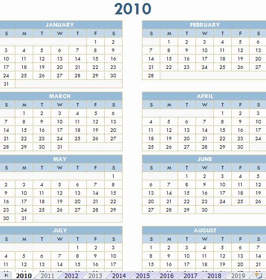 2013 Calendar Printable One Page New 4 Best Of 2010 Calendar Printable Printable 2010