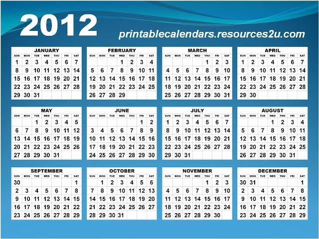 2013 Calendar Printable One Page Unique 2012 Printable Calendar E Page