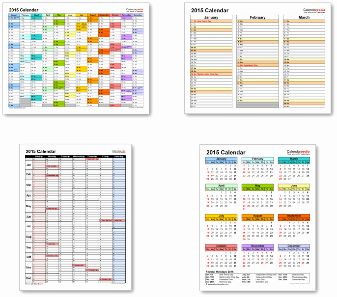 2015 Calendar with Holidays Excel Beautiful 2015 Calendar with Federal Holidays & Excel Pdf Word Templates