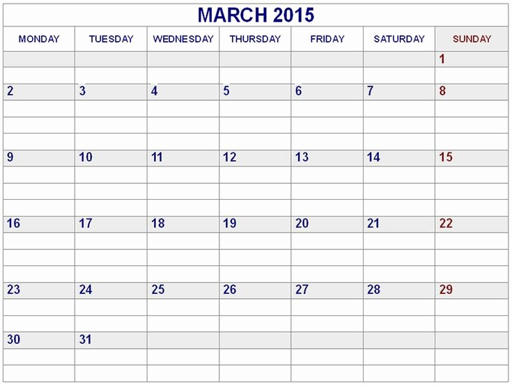2015 Calendar with Holidays Excel Best Of 24 Best March 2015 Calendar Images On Pinterest