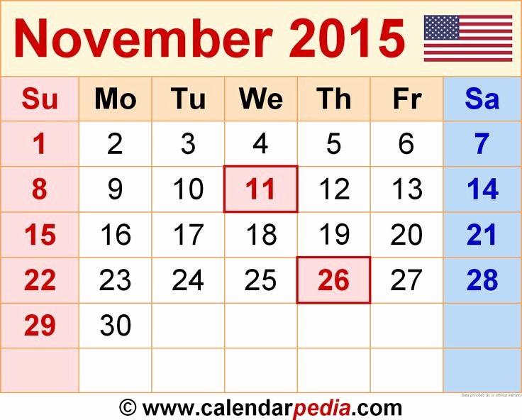 2015 Calendar with Holidays Excel Elegant 17 Best Images About November 2015 Calendar On Pinterest