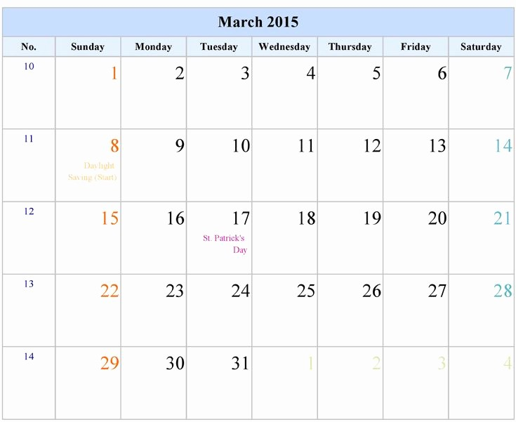 2015 Calendar with Holidays Excel Fresh 24 Best Images About March 2015 Calendar On Pinterest