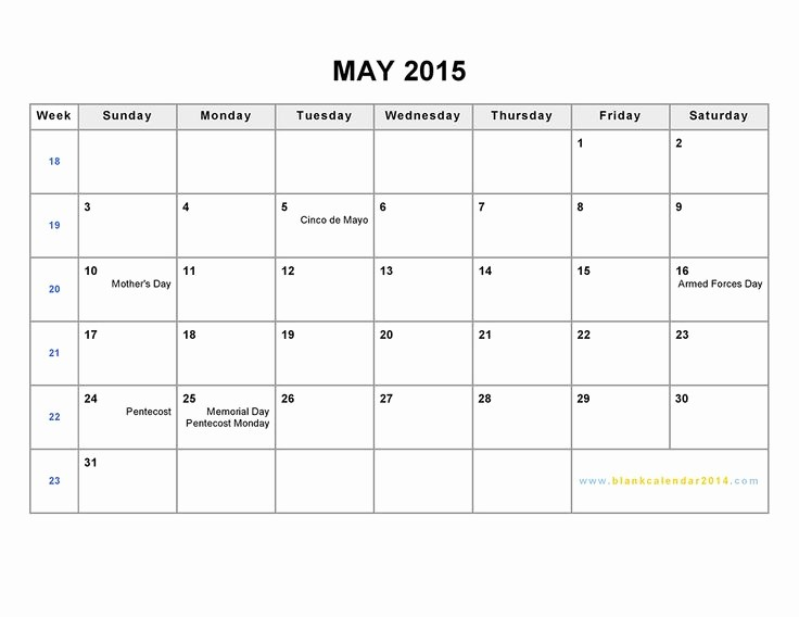 2015 Calendar with Holidays Excel Lovely Download 2015 June Calendar Word Printable Template