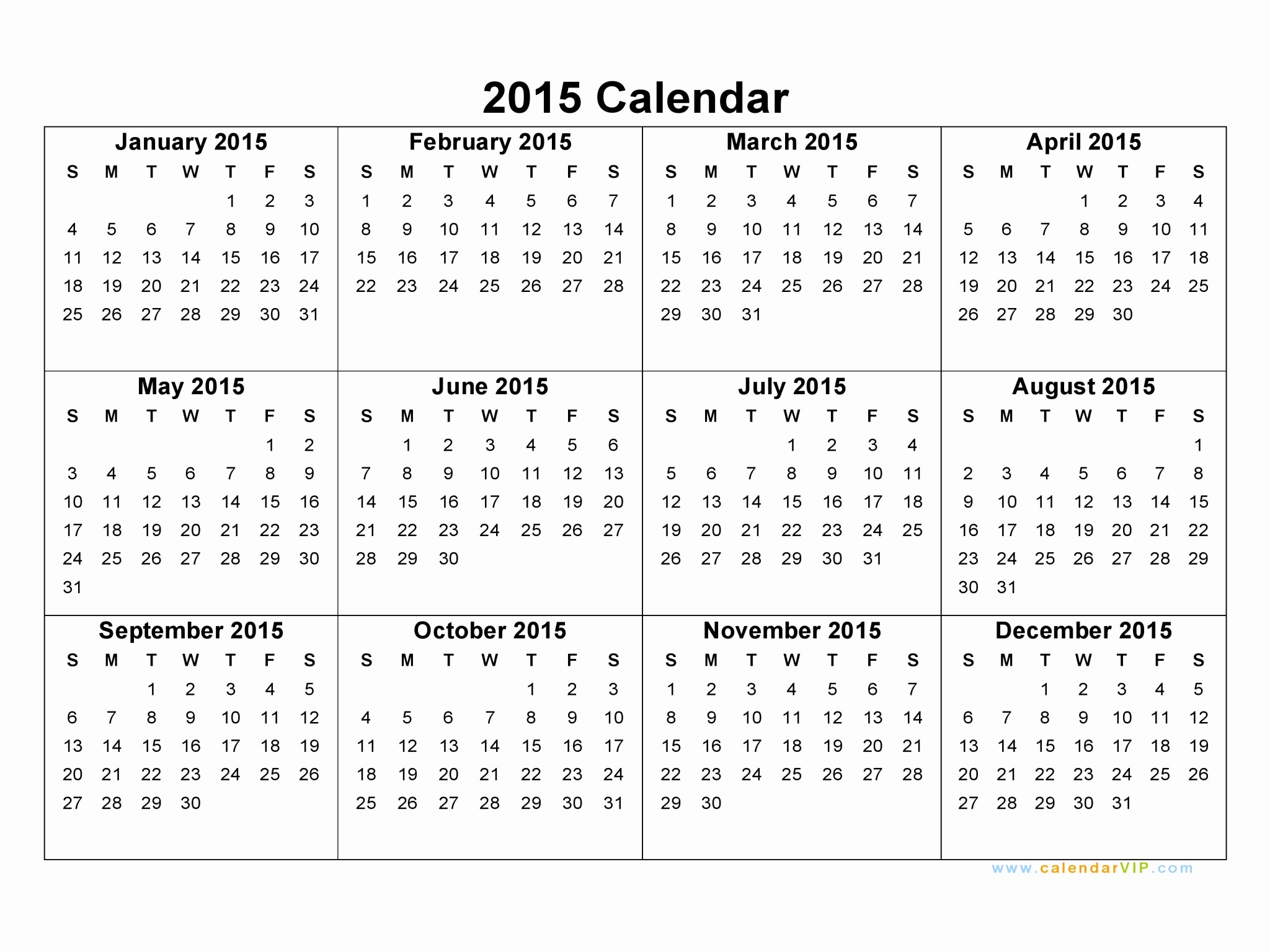 2015 Calendar with Holidays Excel Luxury 2015 Calendar Blank Printable Calendar Template In Pdf