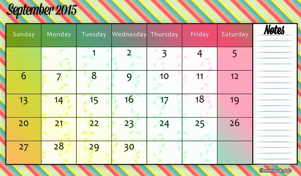 2015 Yearly Calendar Printable Landscape Awesome Free Printable September 2015 Calendar Landscape