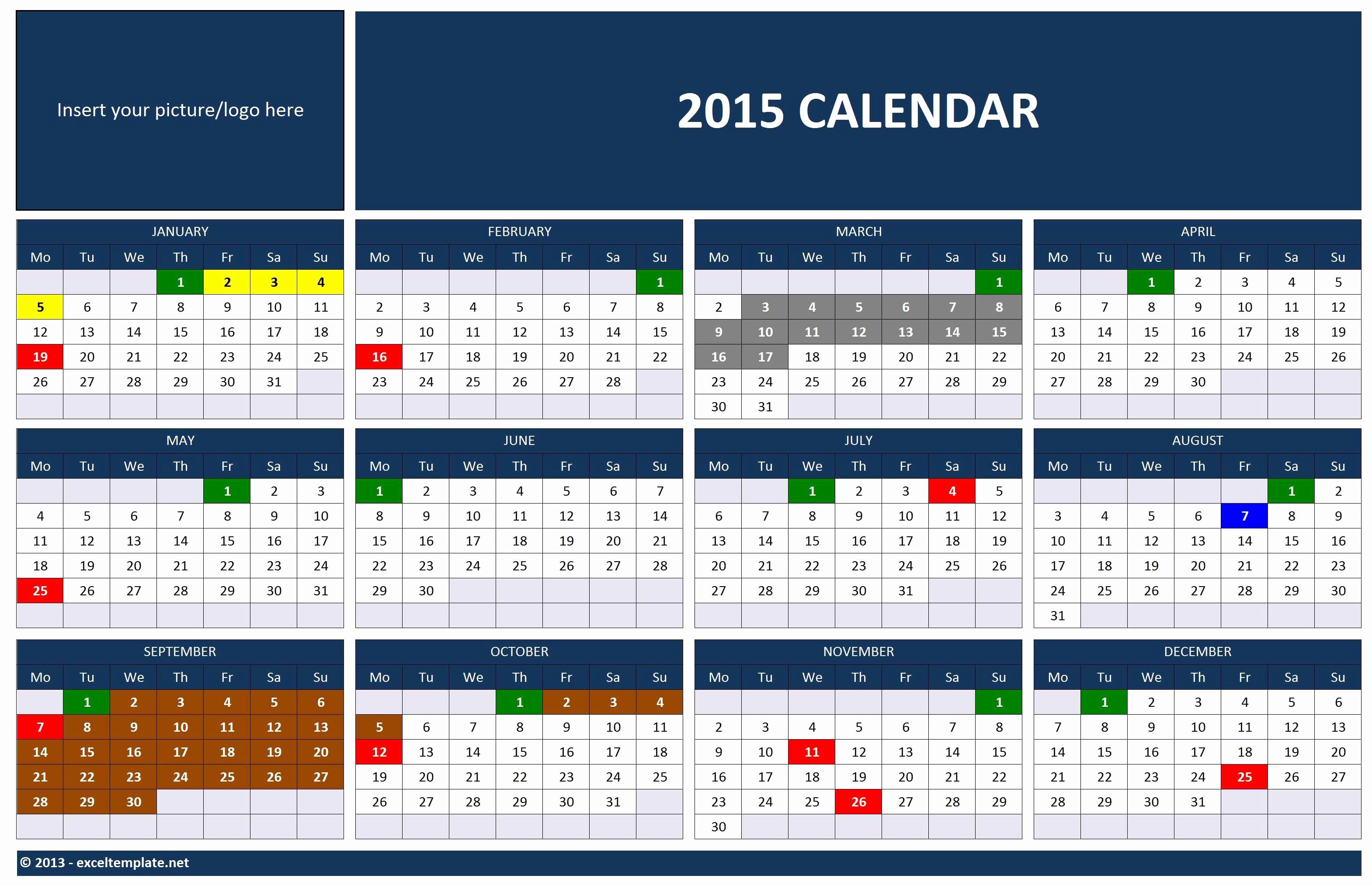 2015 Yearly Calendar Printable Landscape Awesome New Year Calendar 2015