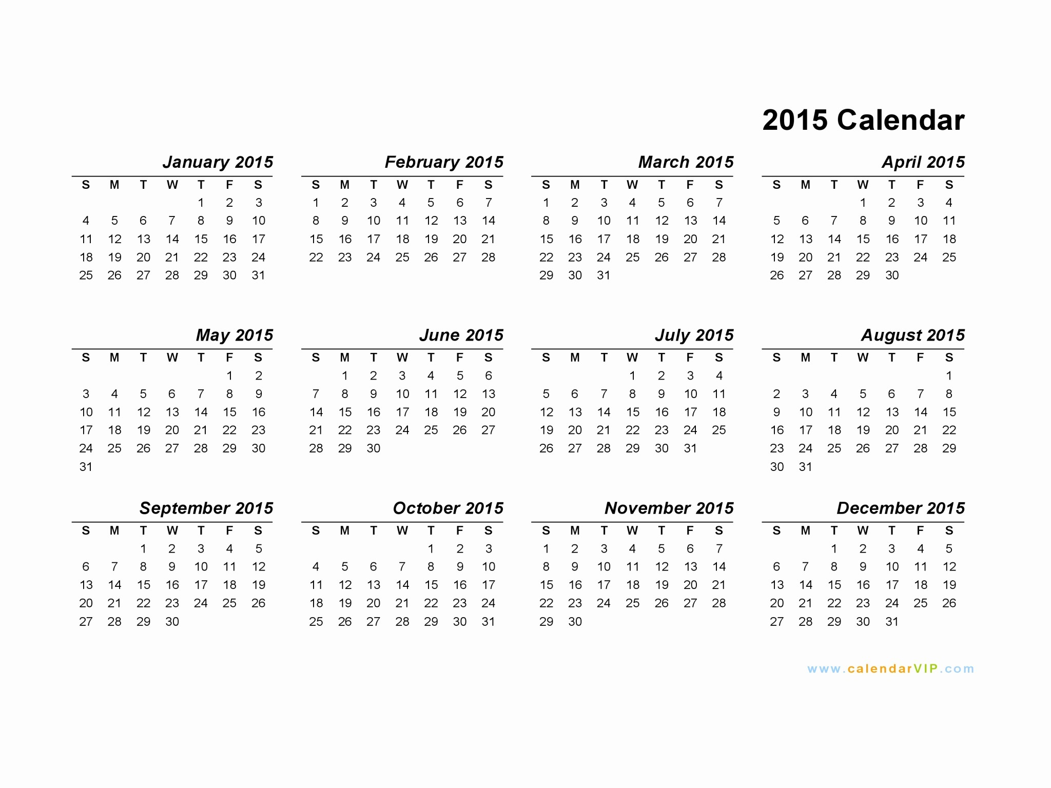 2015 Yearly Calendar Printable Landscape Beautiful 2015 Calendar Blank Printable Calendar Template In Pdf
