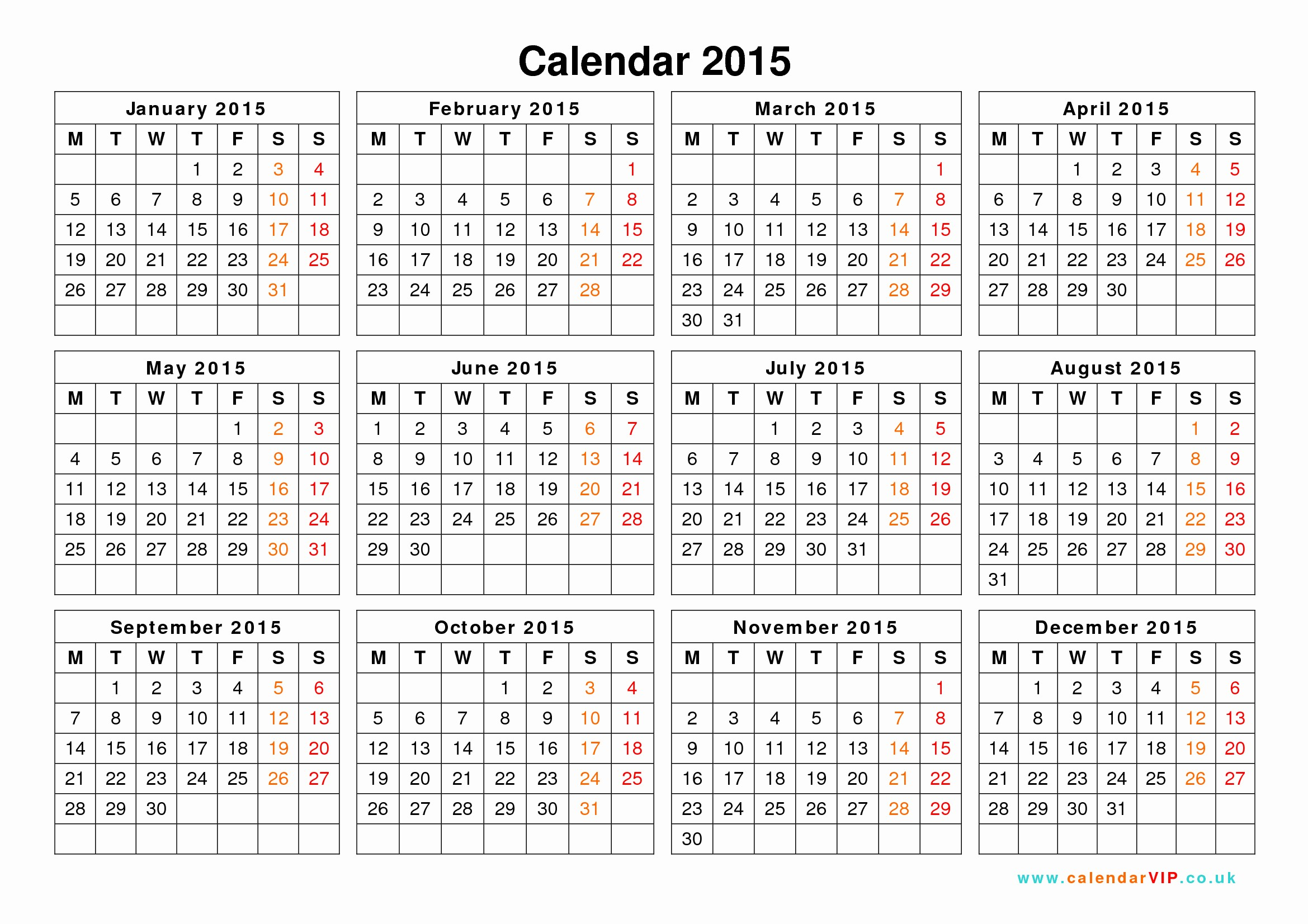 2015 Yearly Calendar Printable Landscape Beautiful Calendar 2015 Uk Free Yearly Calendar Templates for Uk
