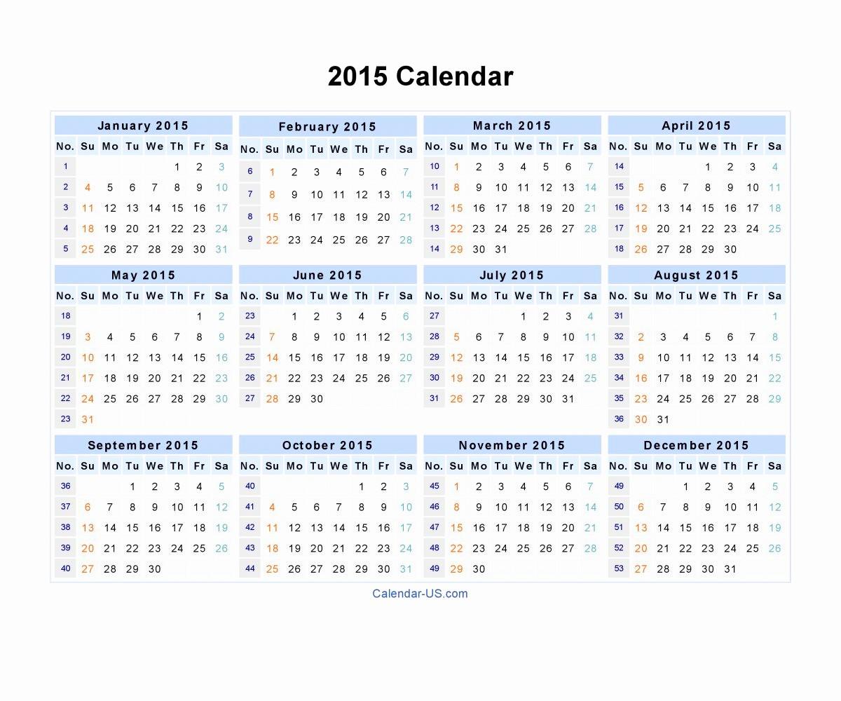 2015 Yearly Calendar Printable Landscape Beautiful Riveting Pdf Word Excel Plus Calendar Calendar Blank