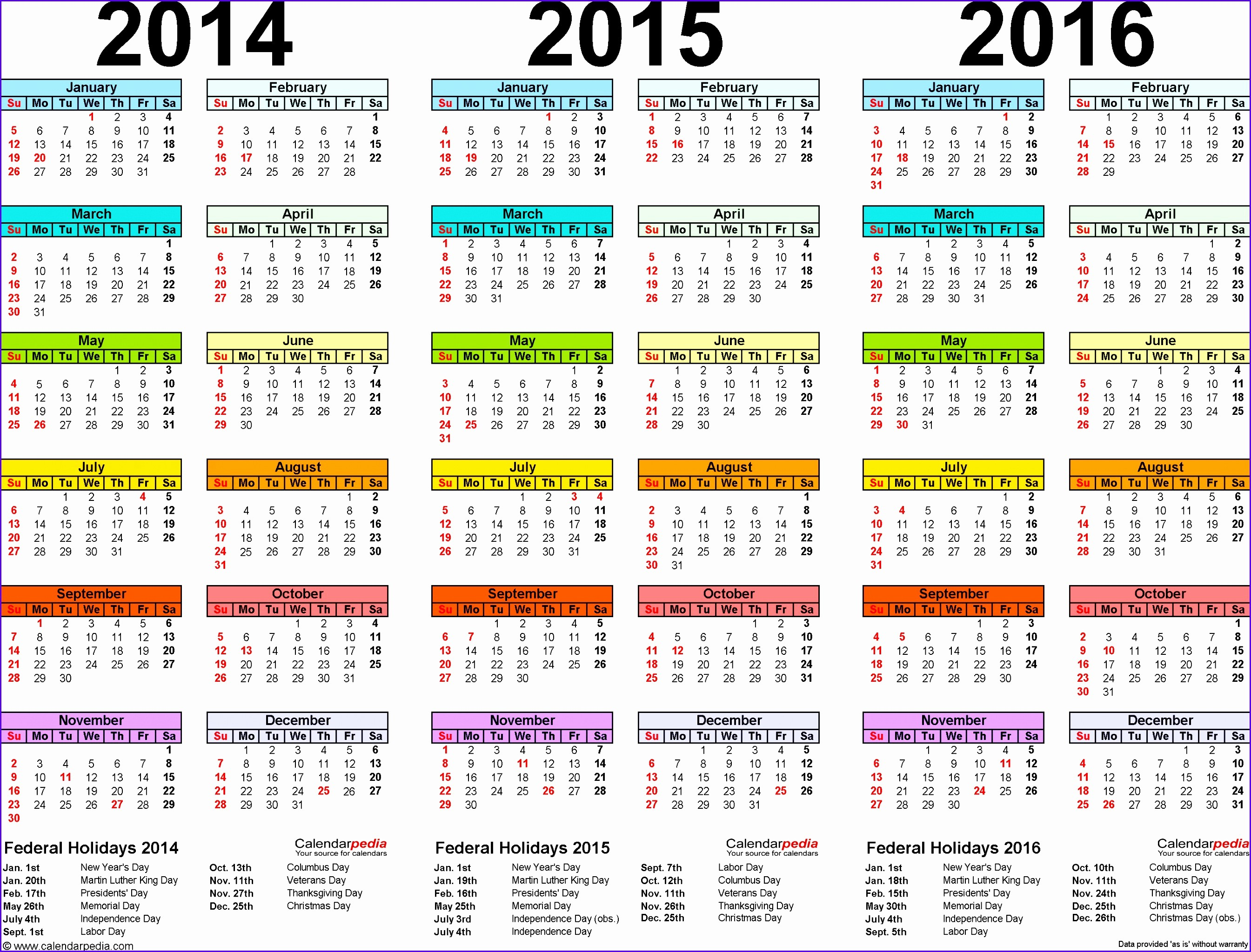 2015 Yearly Calendar Printable Landscape Inspirational 6 Excel Yearly Calendar Template 2014 Exceltemplates