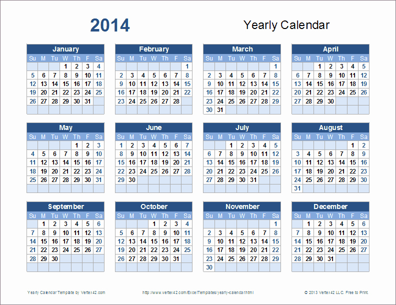 2015 Yearly Calendar Printable Landscape Lovely 2015 Calendar In Excel format with Week Numbers