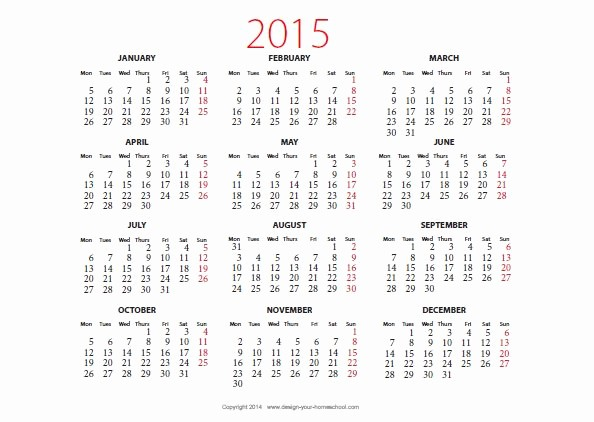 2015 Yearly Calendar Printable Landscape Lovely 2015 Calendar Printable Landscape
