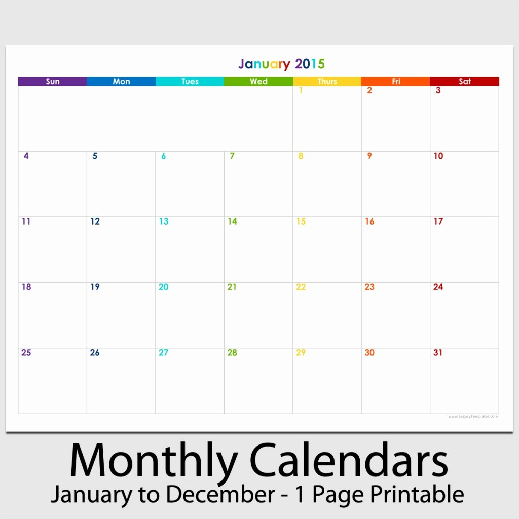 "2015 Yearly Calendar Printable Landscape Luxury 2015 12 Month Landscape Calendar 8 1 2"" X 11"""