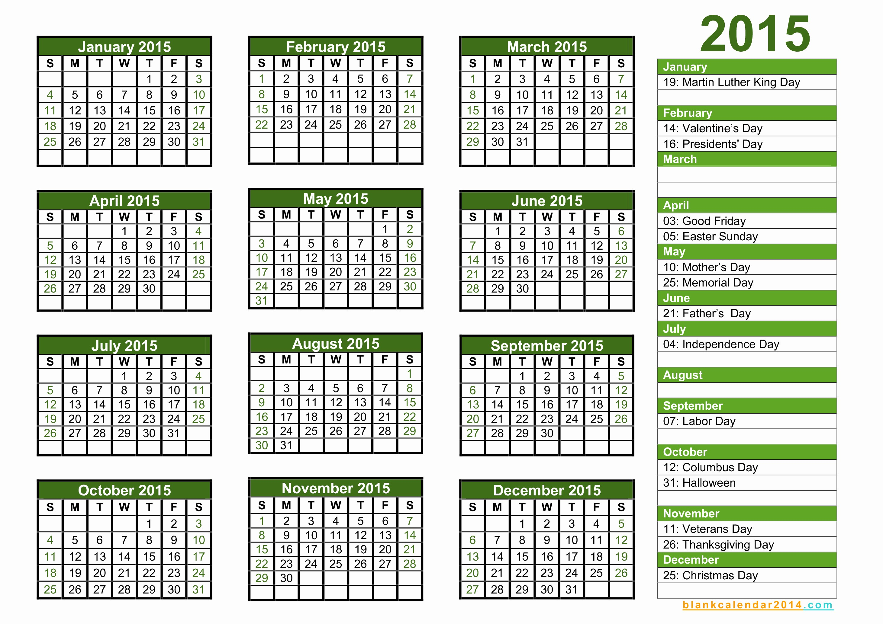 2015 Yearly Calendar Printable Landscape New Yearly Calendar – 2017 Printable Calendar