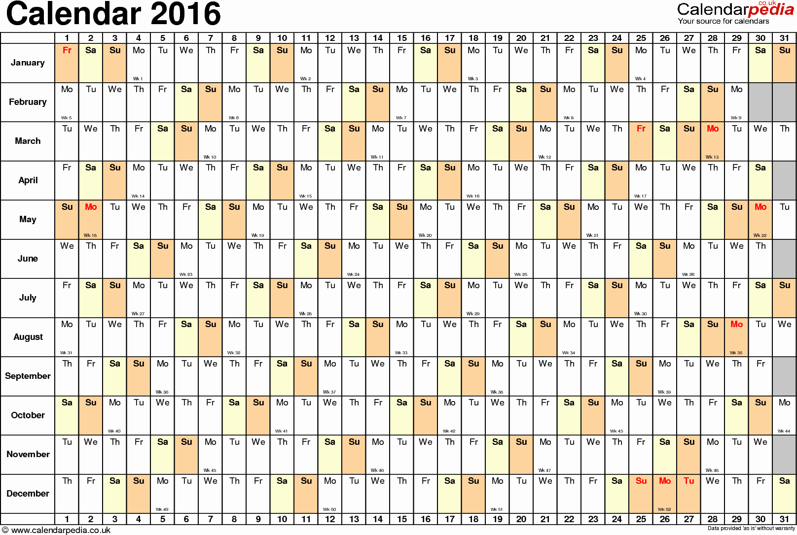 2015 Yearly Calendar Printable Landscape Unique December 2016 Calendar Landscape – 2017 Printable Calendar