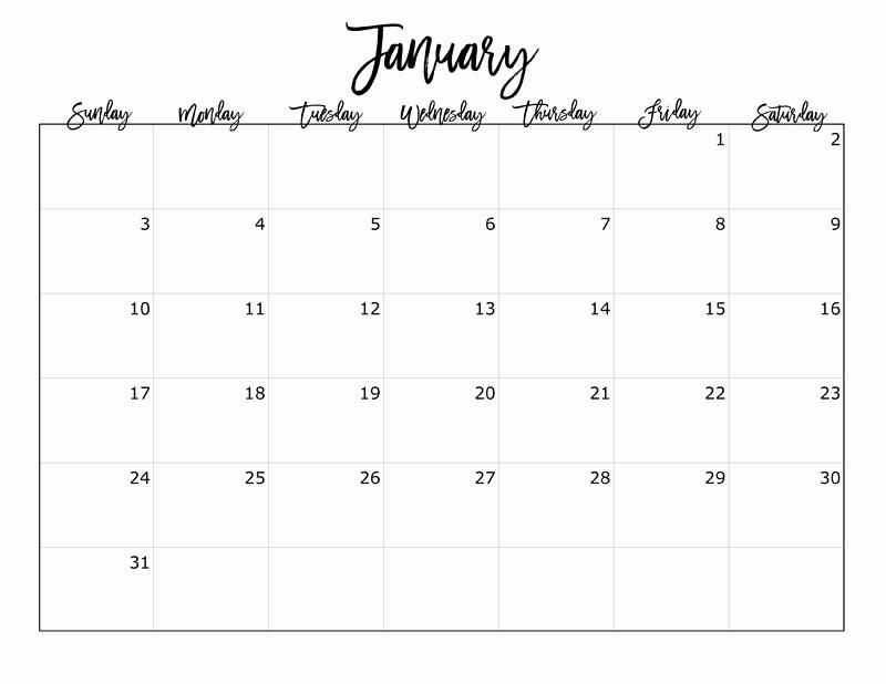 2016 12 Month Calendar Printable Awesome Free 2016 Printable Calendar