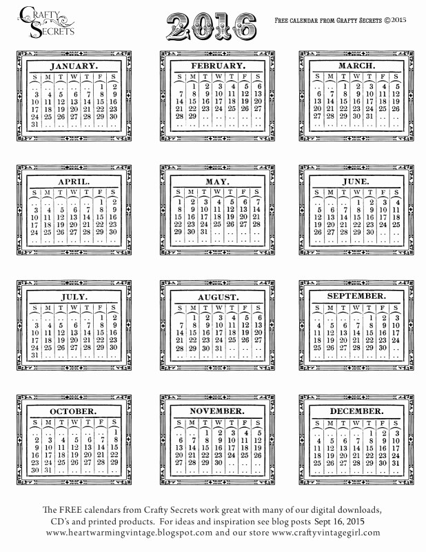 2016 12 Month Calendar Printable Best Of 12 Month Blank 2016 Calendar Free Calendar Template
