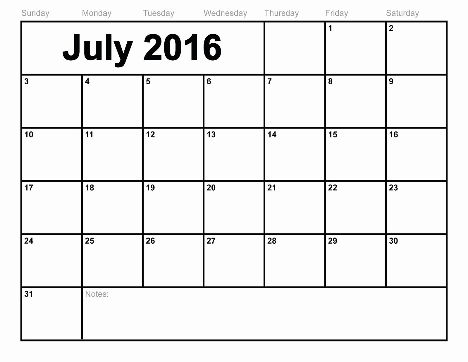 2016 12 Month Calendar Printable Elegant 2016 Blank Calendars to Print