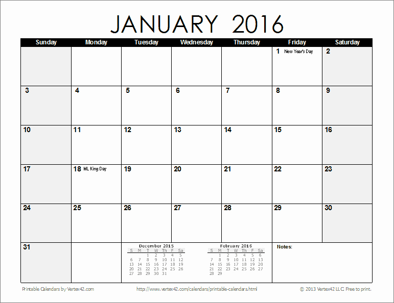 2016 12 Month Calendar Printable Fresh Free Printable Calendar Printable Monthly Calendars