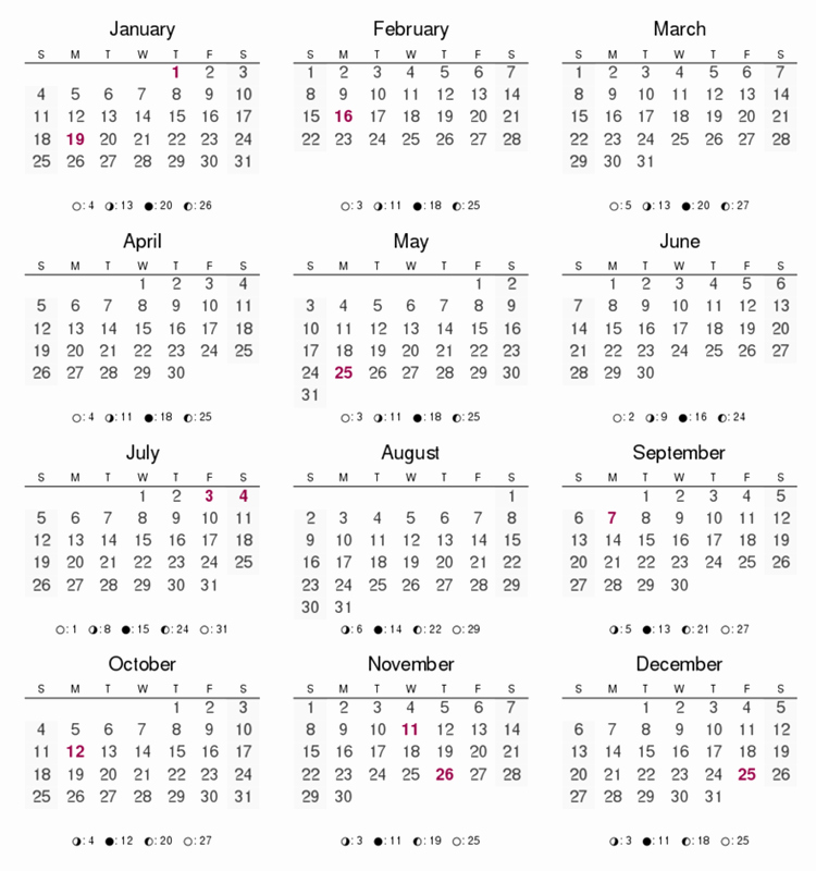 2016 12 Month Calendar Printable New Calendar Printable 12 Months