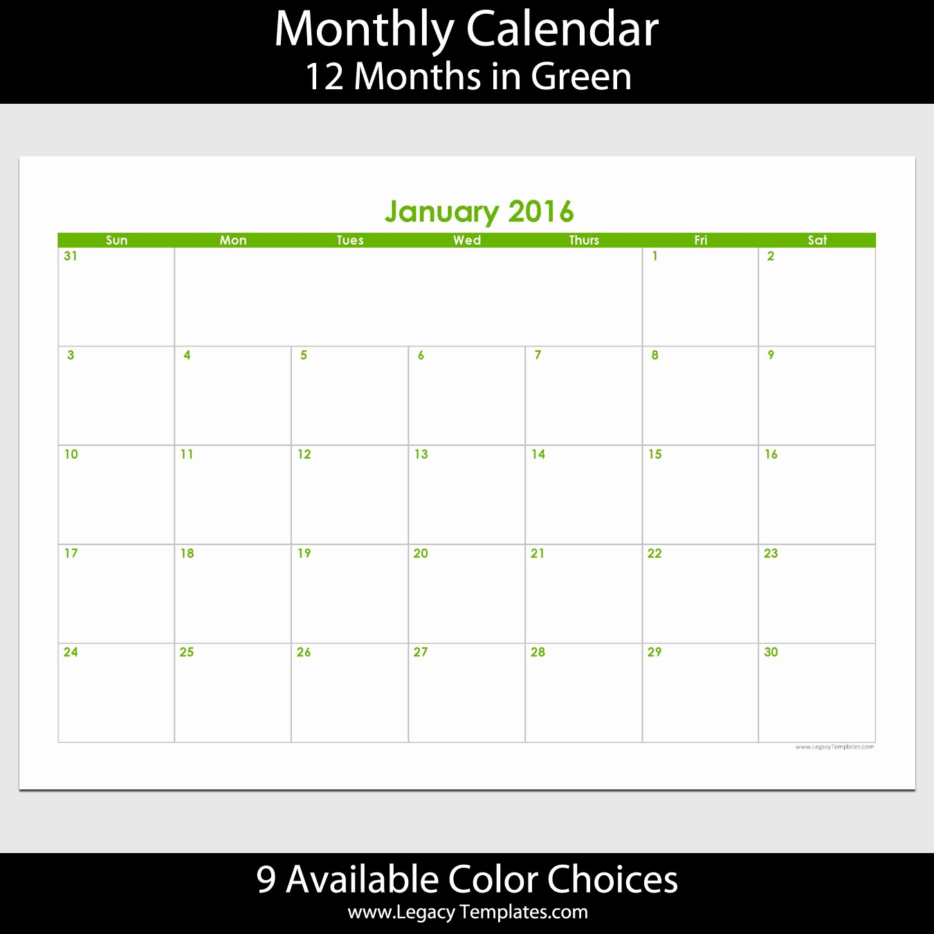 2016 12 Month Calendar Printable Unique 2016 12 Month Landscape Calendar – A5