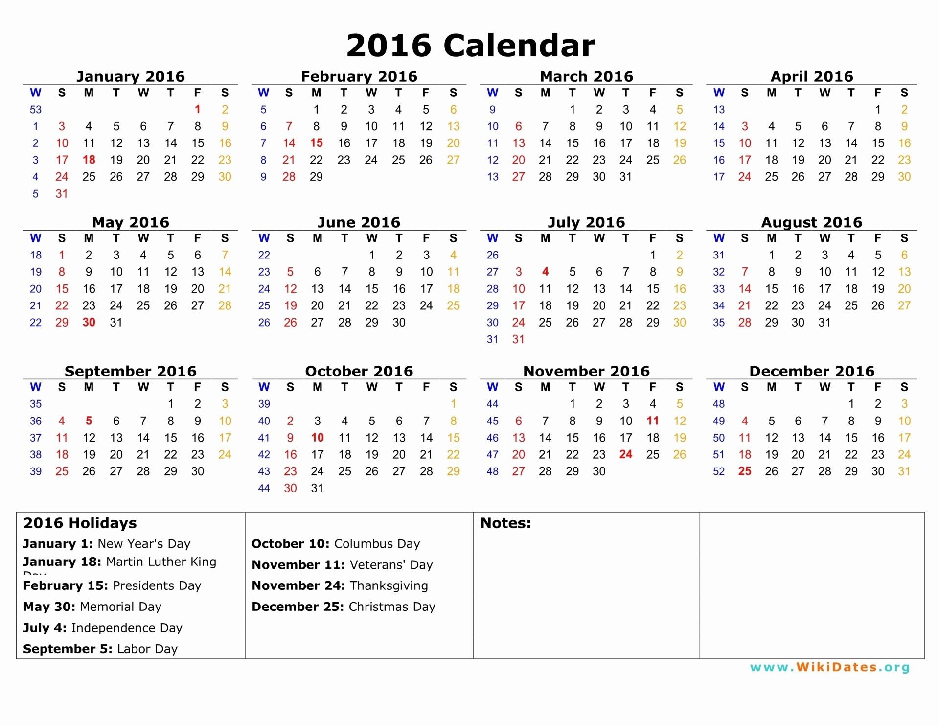 2016 12 Month Calendar Printable Unique 2016 Calendar
