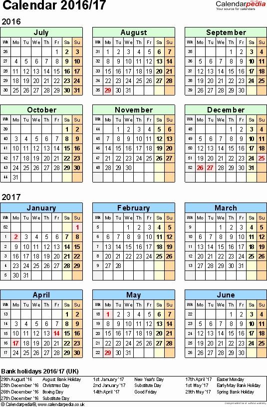 2016 2017 School Calendar Template Awesome 2016 17 School Calendar Template Unique Calendar Template