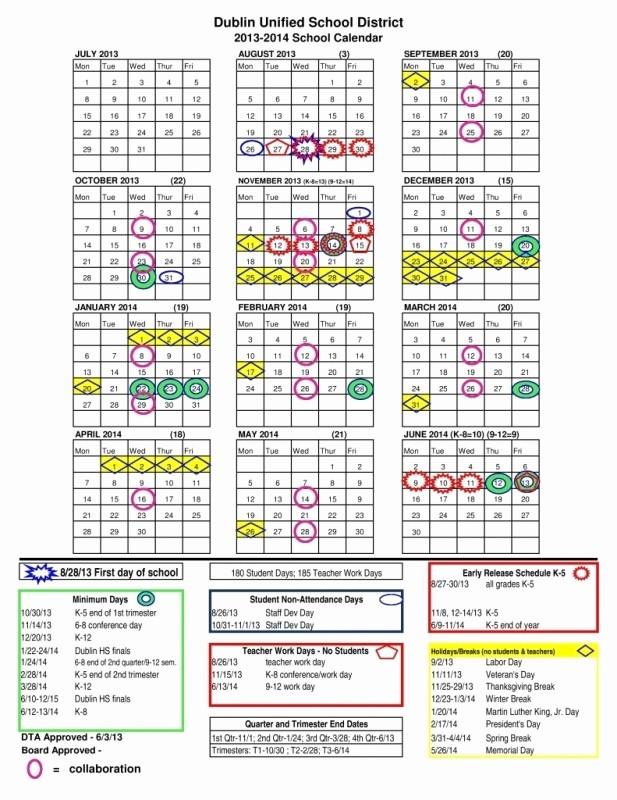 2016 2017 School Calendar Template Best Of Fresno Unified School Calendar 2016 2017 Free Calendar