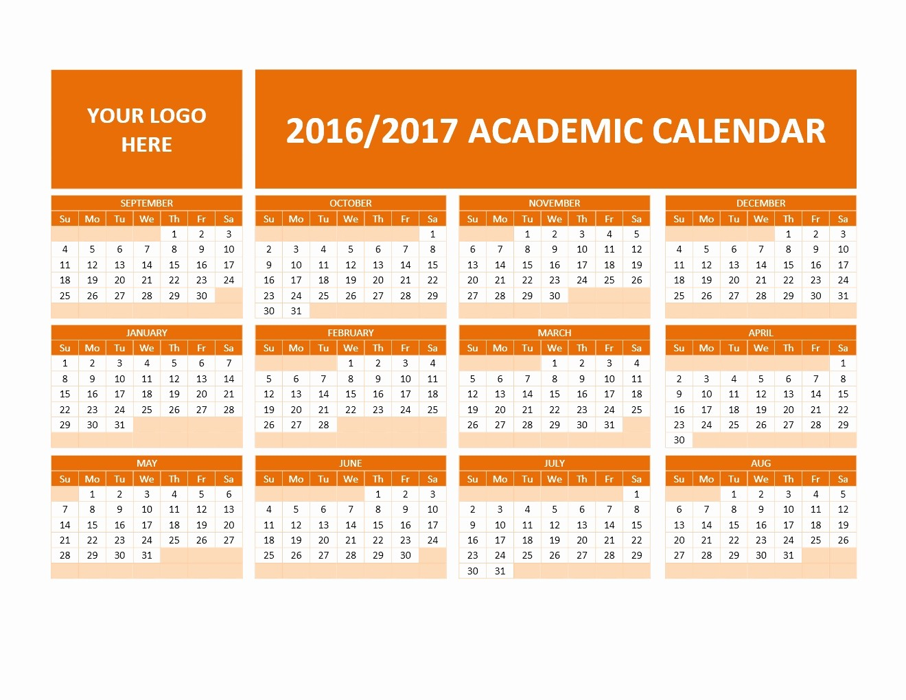 2016 2017 School Calendar Template Fresh 2016 2017 School Calendars