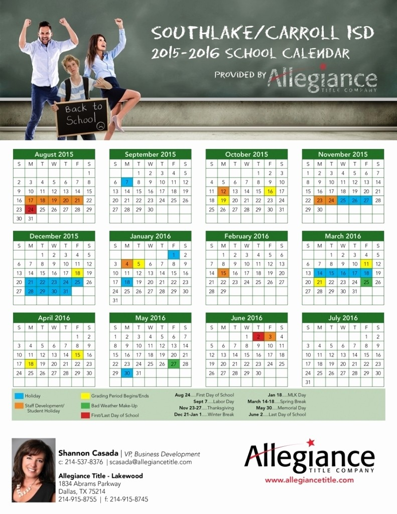 2016 2017 School Calendar Template Fresh Mckinney isd 2016 Calendar Free Calendar Template
