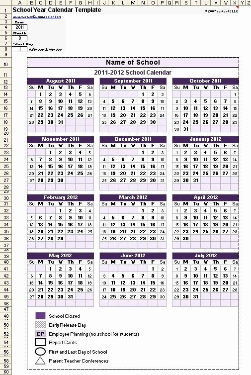 2016 2017 School Calendar Template Luxury Best Printable Academic Calendar