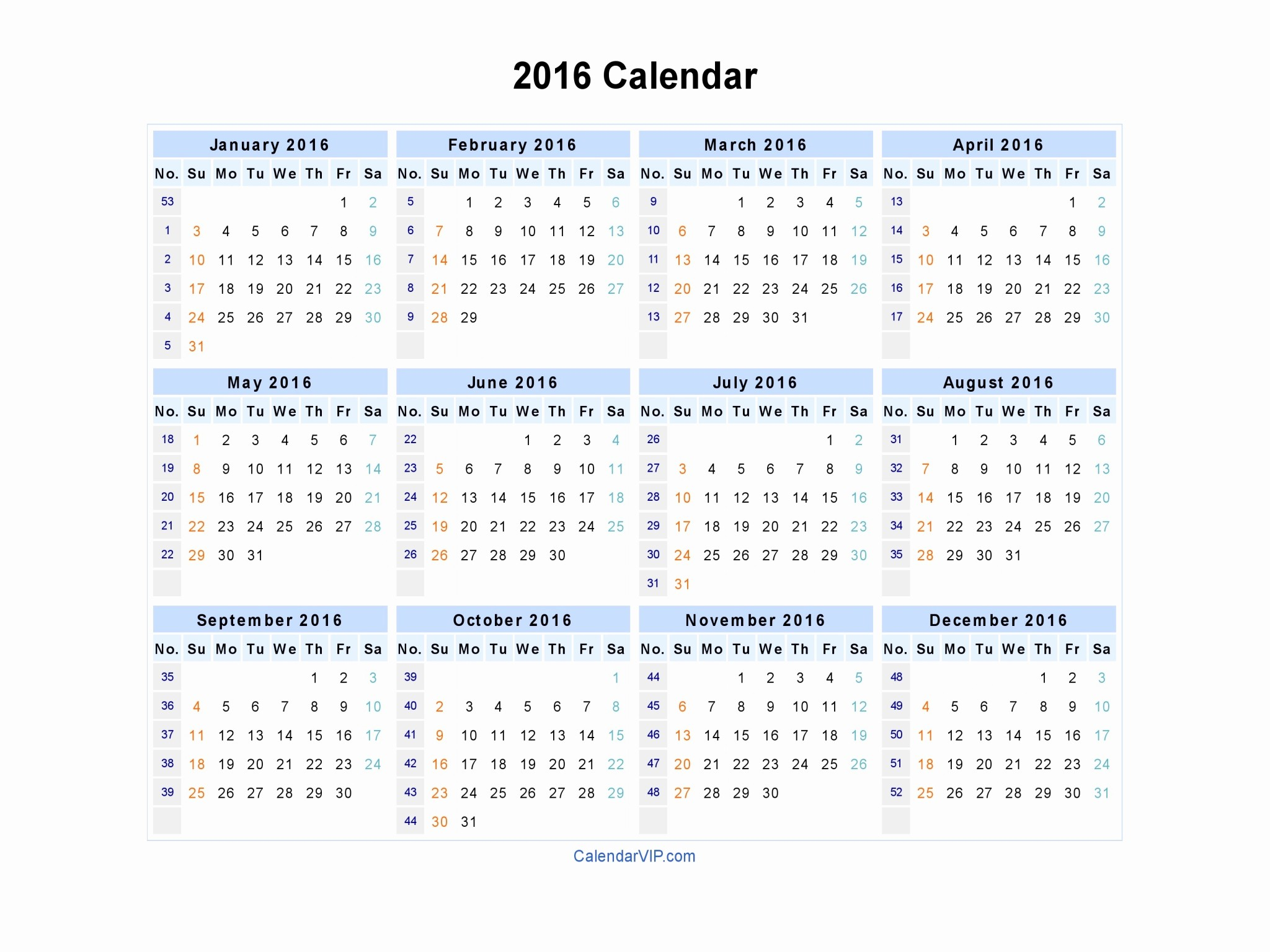2016 Calendar Excel with Holidays Beautiful 2016 Calendar Blank Printable Calendar Template In Pdf